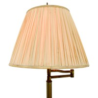 81% OFF - Brass Floor Lamp with Accordion Shade / Decor