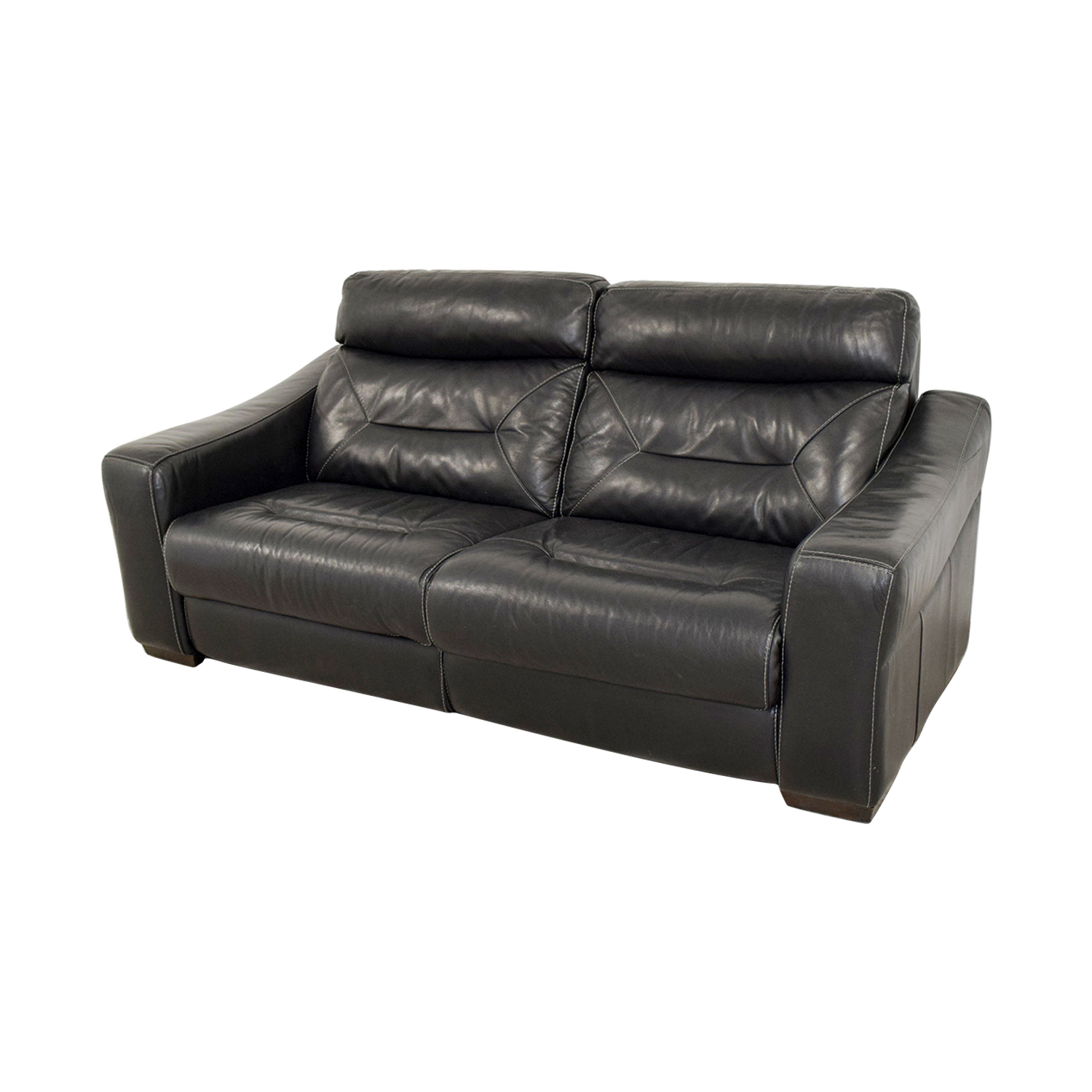 Furniture Chairs Black 54 Off Macy 39s Macy 39s Black Leather Recliner Sofa Chairs