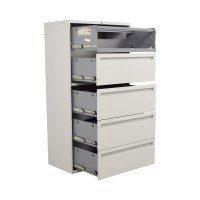 90% OFF - Hon Hon White Five Drawer Lateral File Cabinet ...