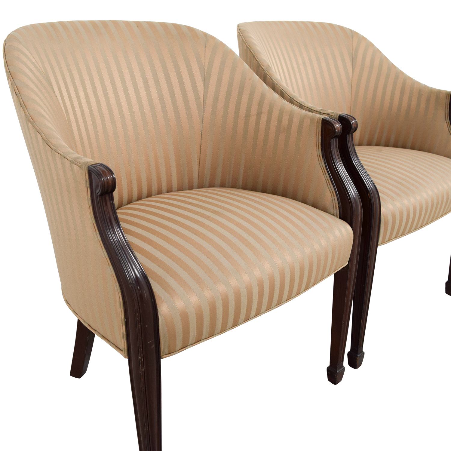 Accent Chairs Prices 90 Off Paoli Paoli Gold Striped Accent Chairs Chairs