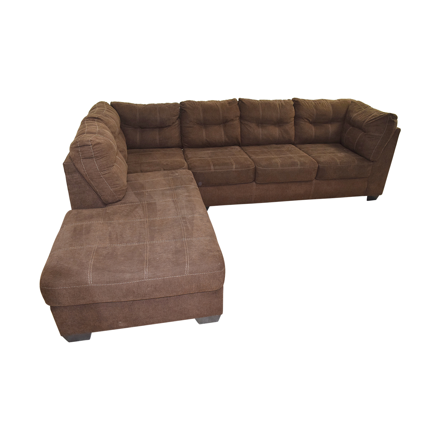Buying A Second Hand Sofa 64 Off Brown L Shaped Chaise Sectional Sofa Sofas