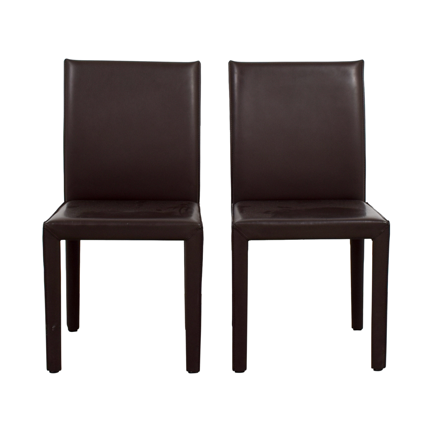 Leather Dining Chairs 90 Off Maria Yee Maria Yee Mondo Brown Leather Dining