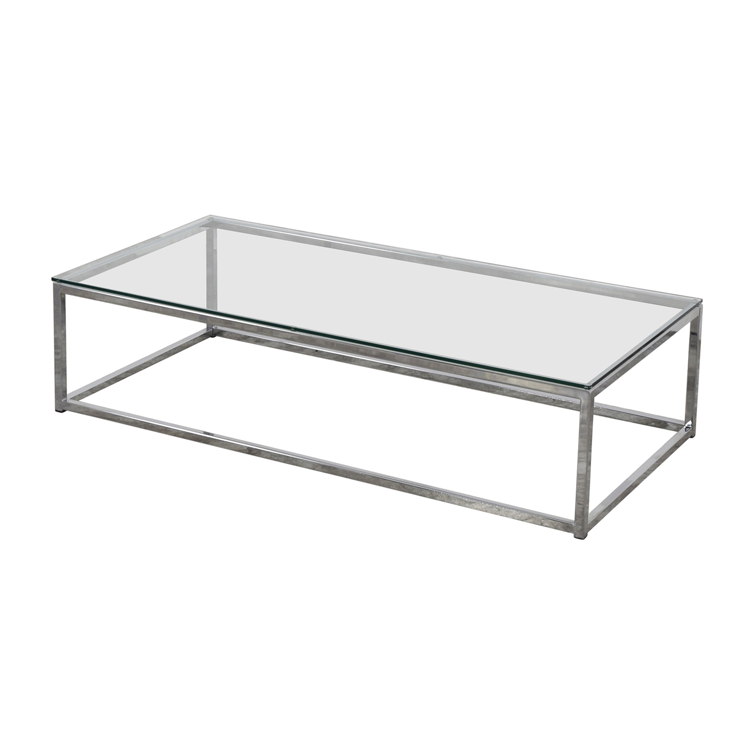 Chrome Coffee Table 45 Off Cb2 Cb2 Glass And Chrome Coffee Table Tables