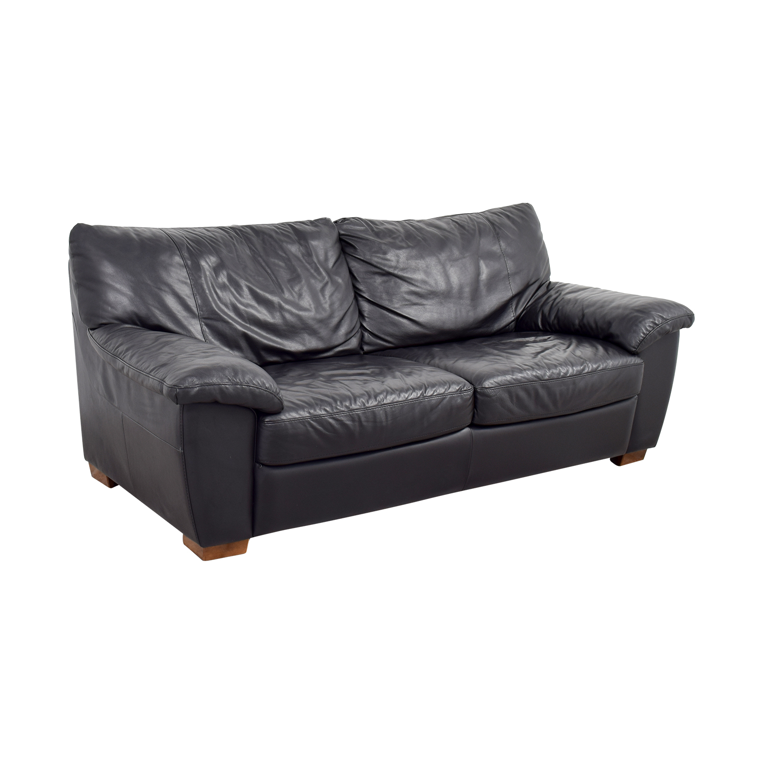 Black Leather Chairs Ikea 90 Off Ikea Ikea Black Leather Two Cushion Couch Sofas