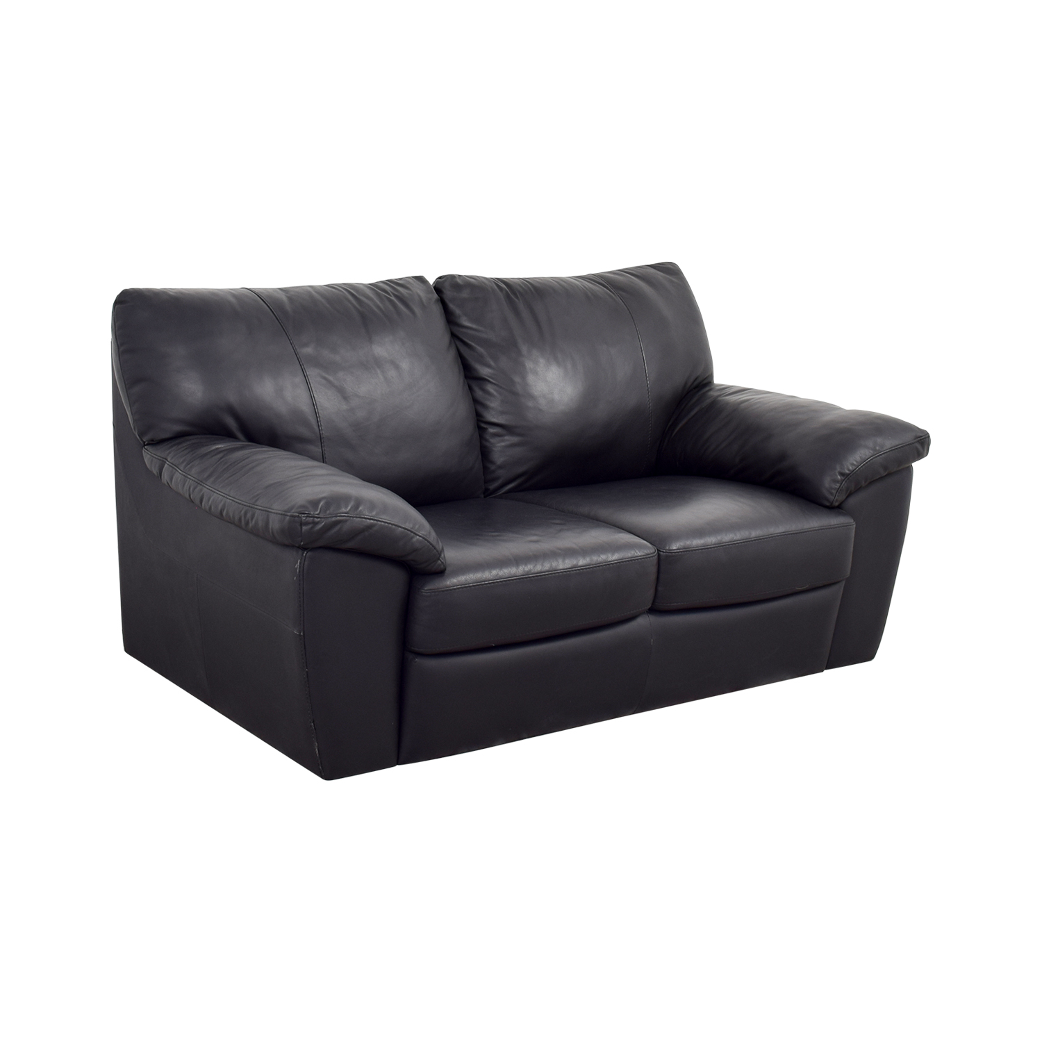 Black Leather Chairs Ikea 81 Off Ikea Ikea Black Leather Two Cushion Couch Sofas