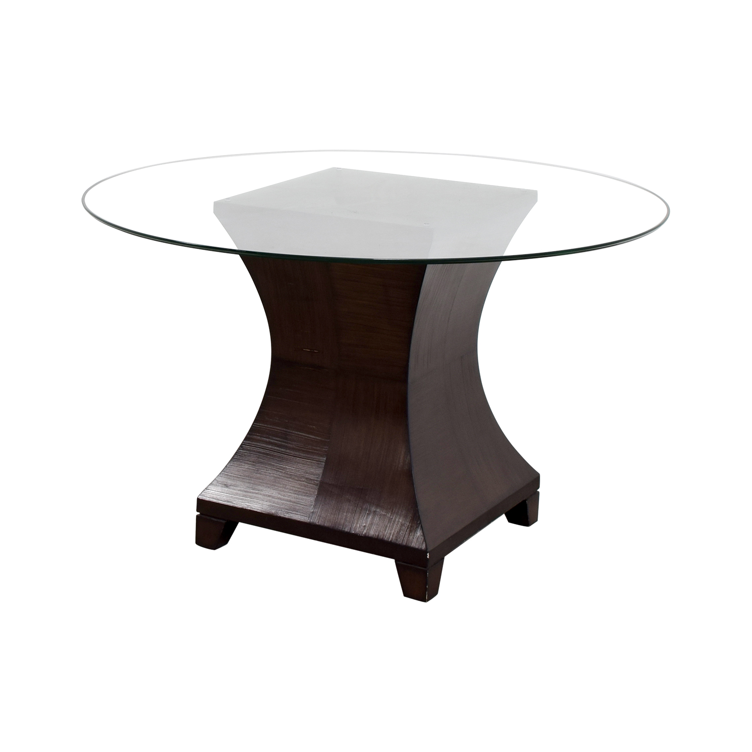 Round Glass Dining Table 90 Off Round Glass Top Dining Table Tables