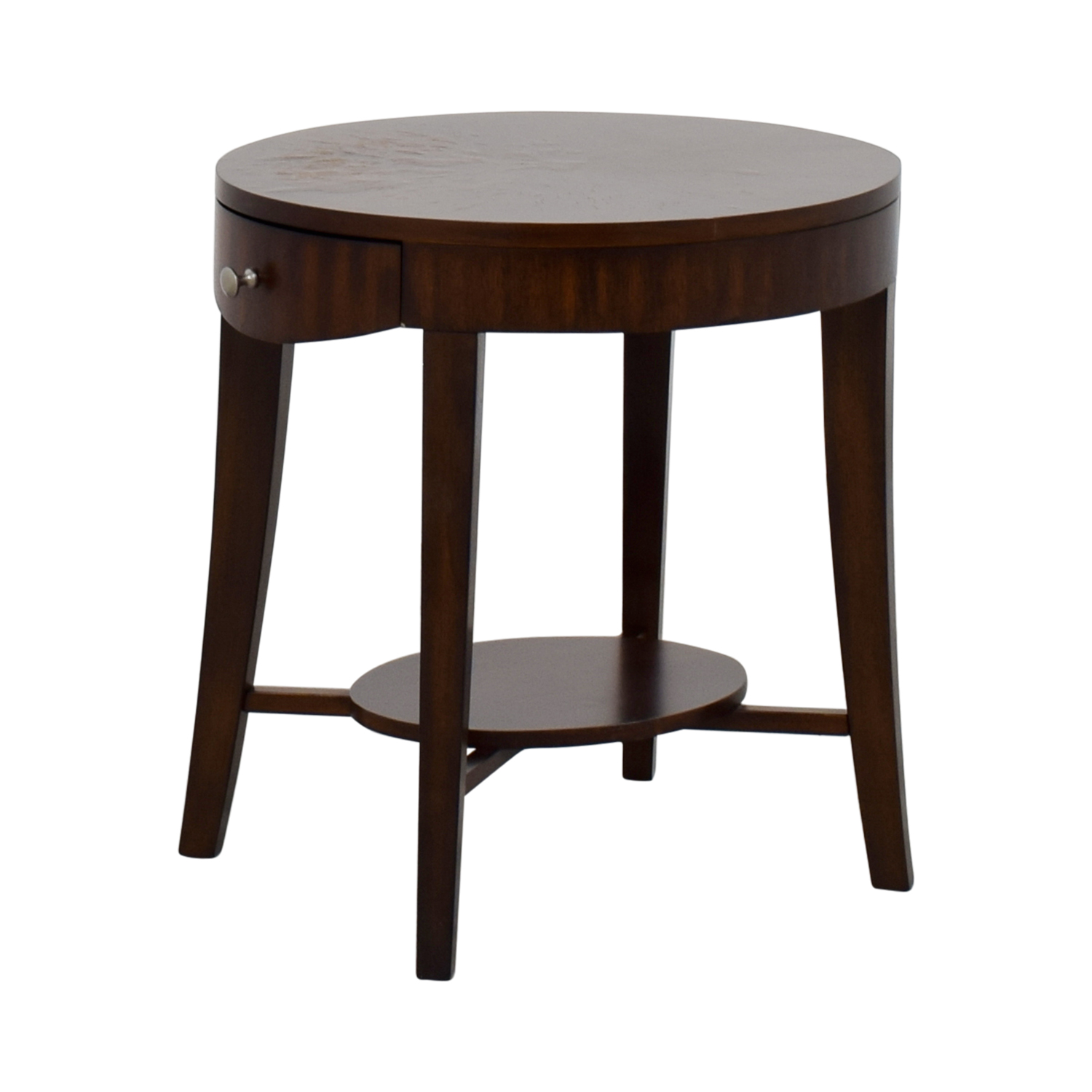 Circular End Tables 71 Off Raymour And Flannigan Raymour And Flanigan Round