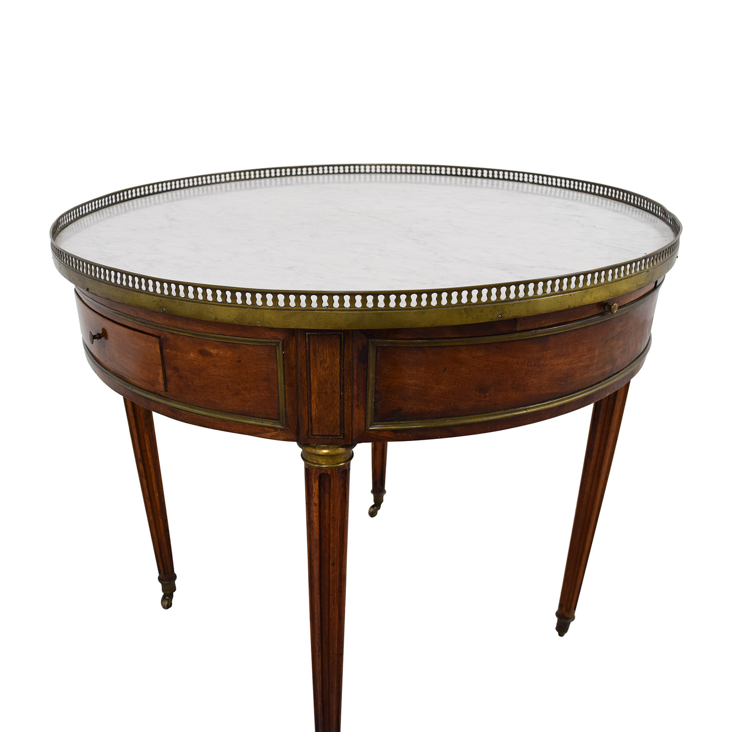Round Marble Top Dining Table 90 Off Antique Round Table With Marble Top Tables
