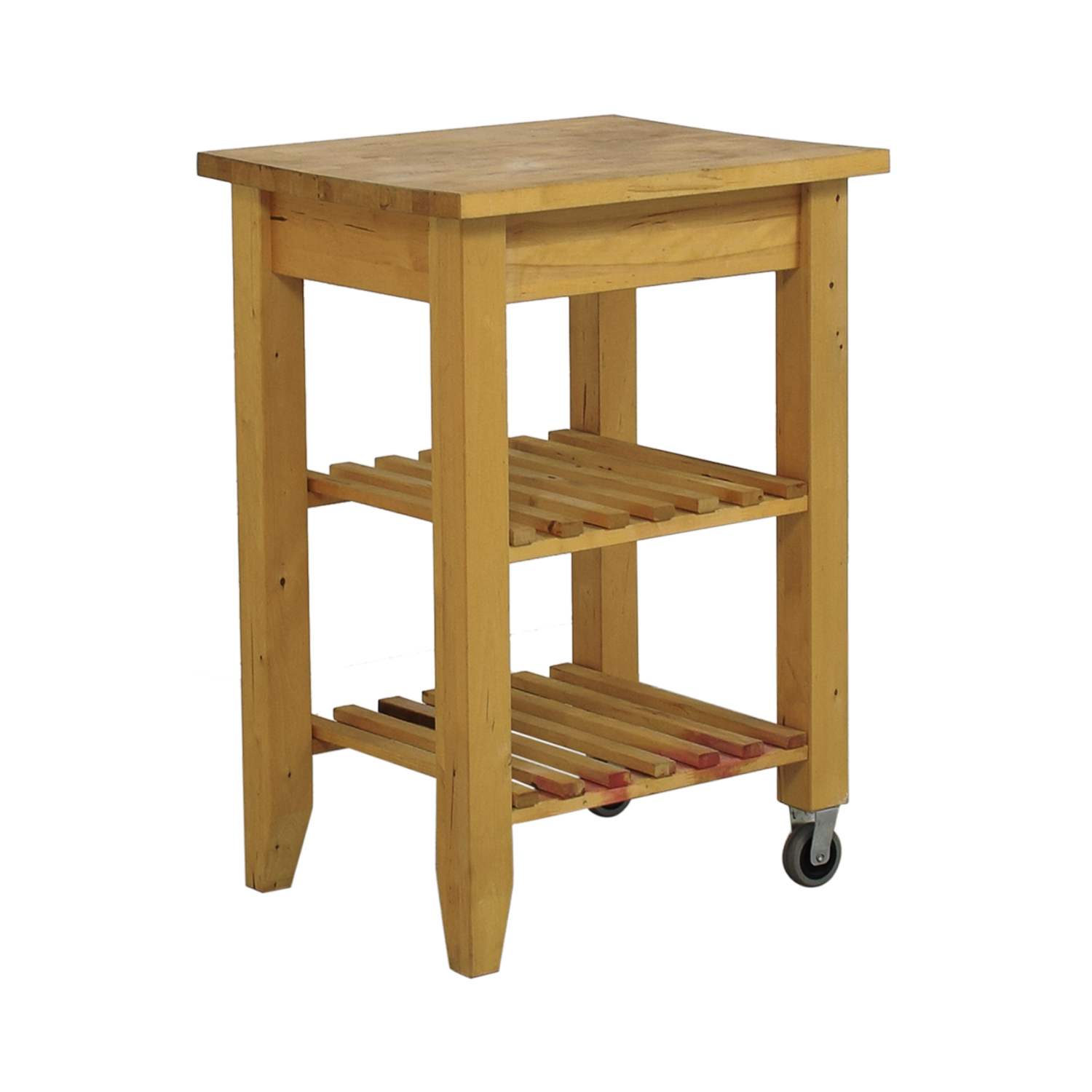 Ikea Kitchen Top 66 Off Ikea Ikea Butcher Block Kitchen Cart With