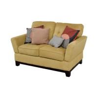 77% OFF - Ashley Furniture Ashley Furniture Tan Loveseat ...