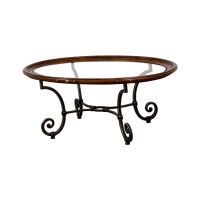 90% OFF - Ethan Allen Ethan Allen Glass Coffee Table / Tables