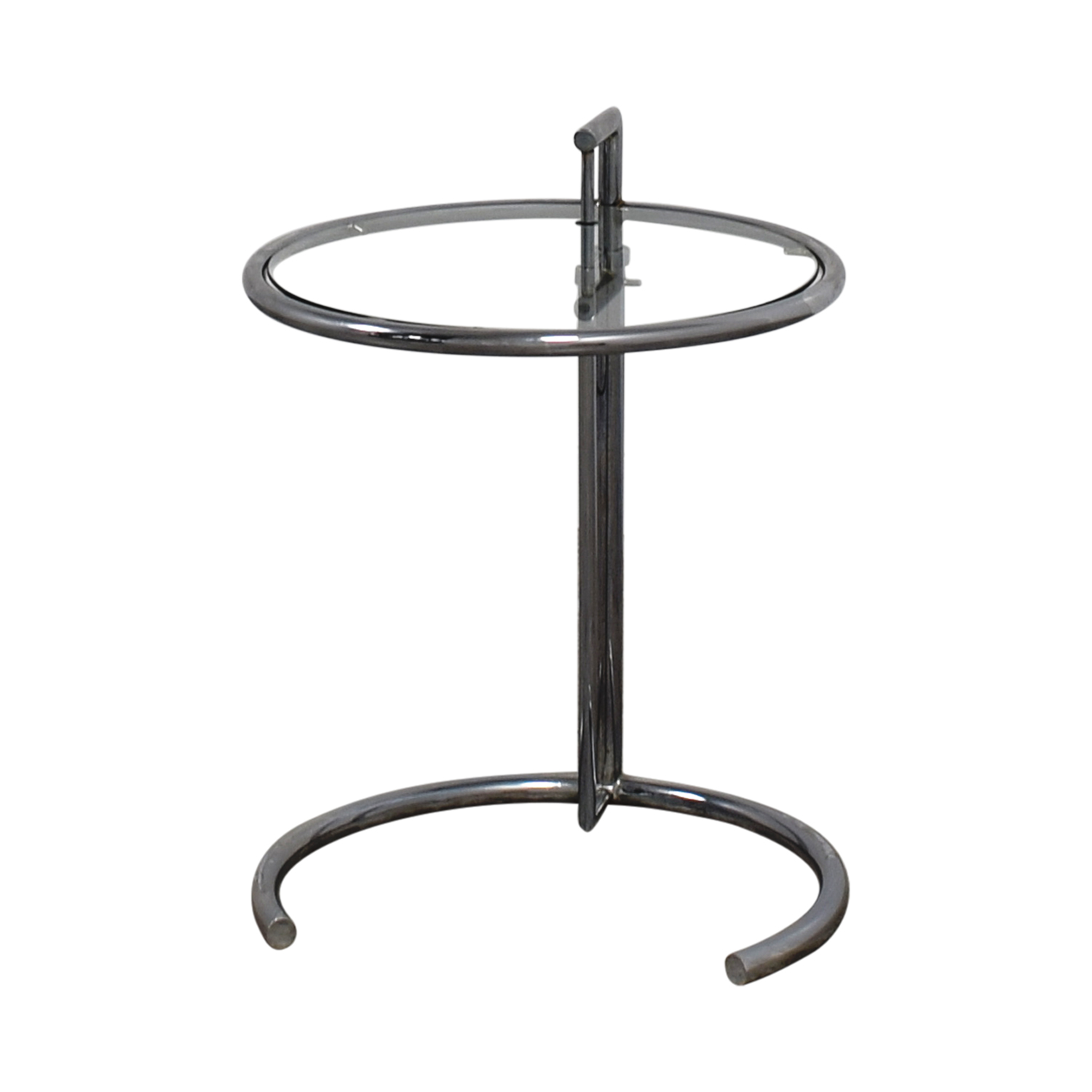 Eileen Gray Table Round Glass And Metal End Tables