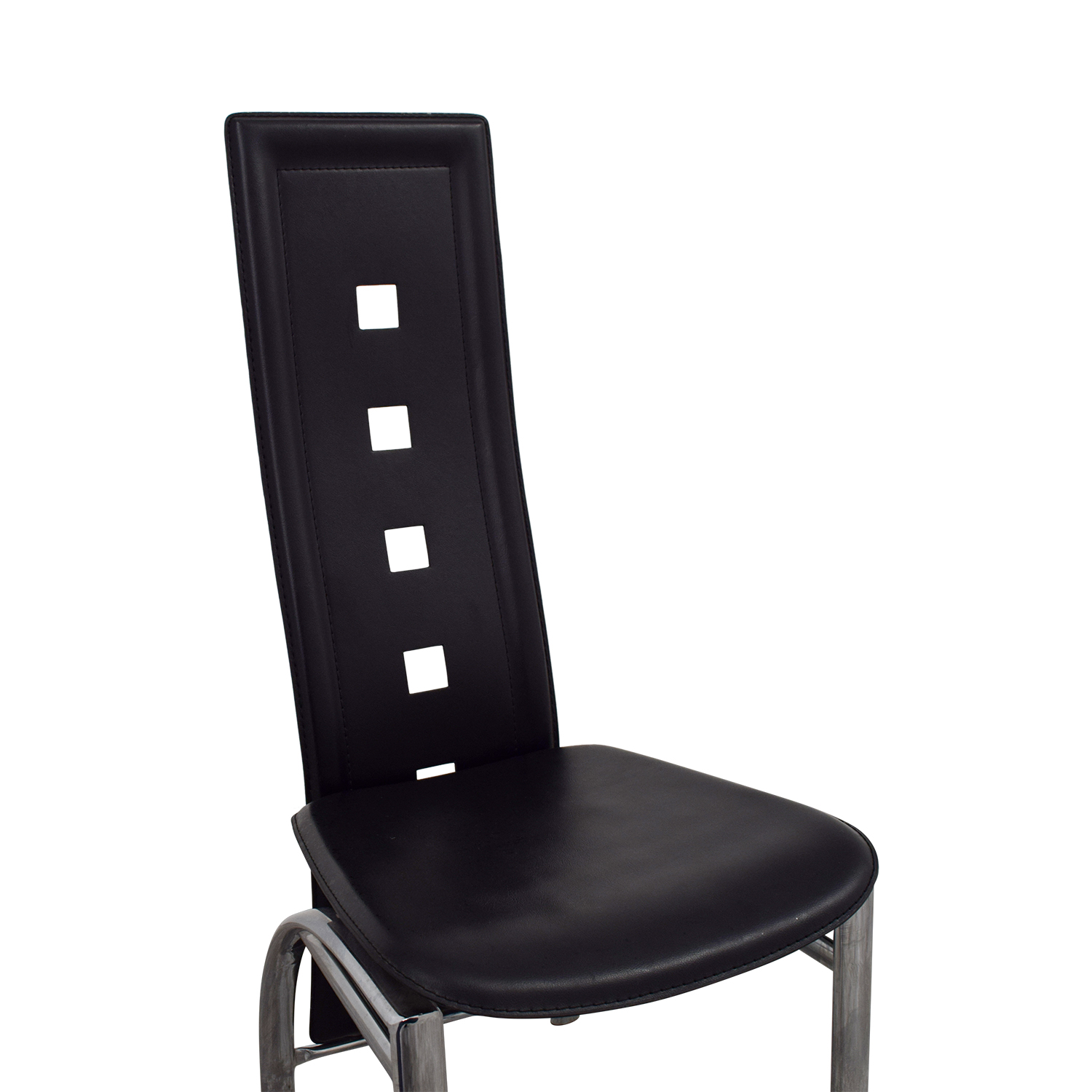 Buy High Chair 86 Off Unkown Metal And Black High Back Dining Chair