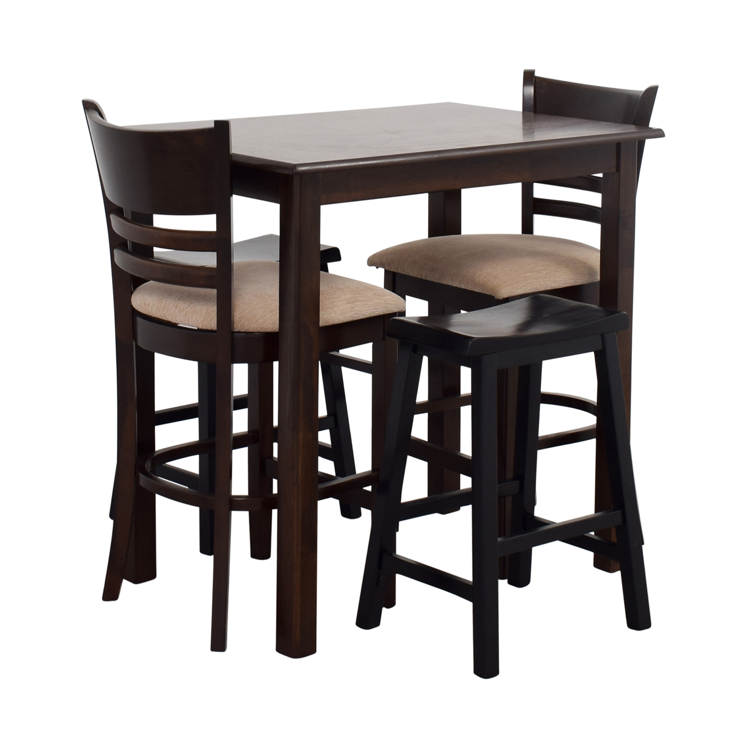 Bar Stools And Table Set 70 Off Simple Bar Table With Two Chairs And Two Stools