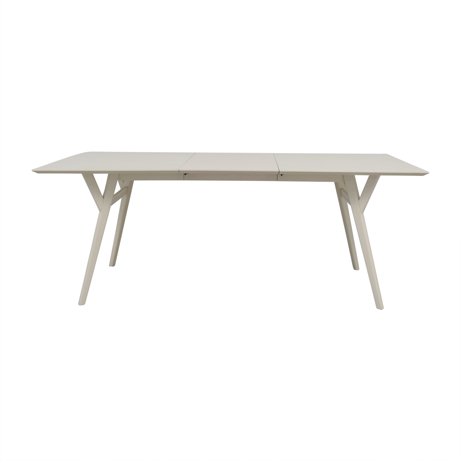 Expandable White Dining Table 61 Off West Elm West Elm Mid Century White Expandable