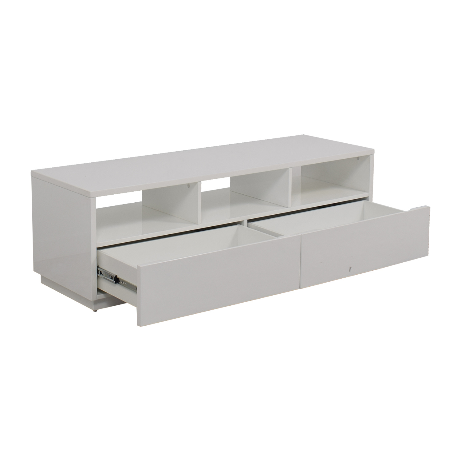 White Tv Stand 86 Off Modern White Tv Stand Storage
