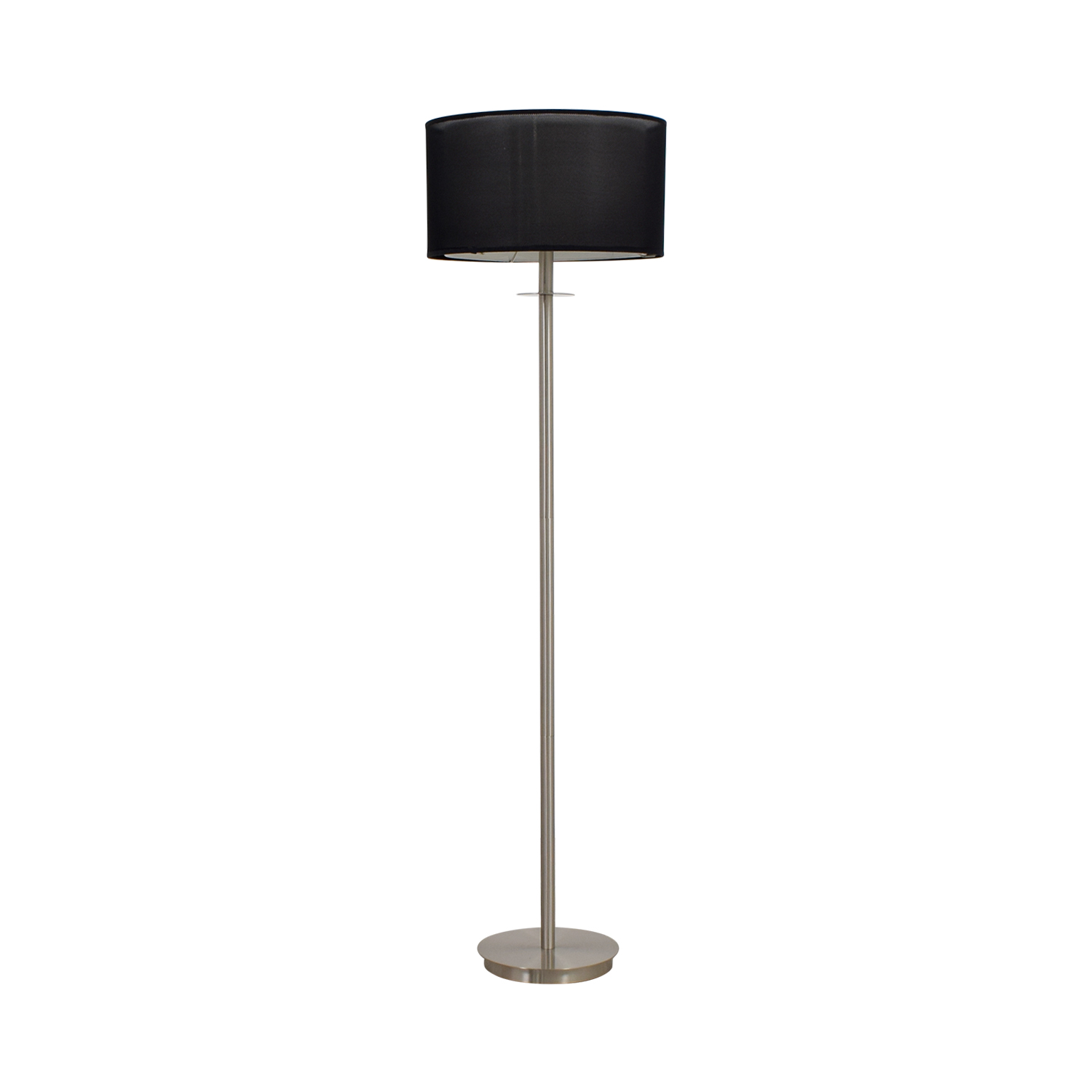Floor Lamp Metal 80 Off Metal Floor Lamp With Black Shade Decor