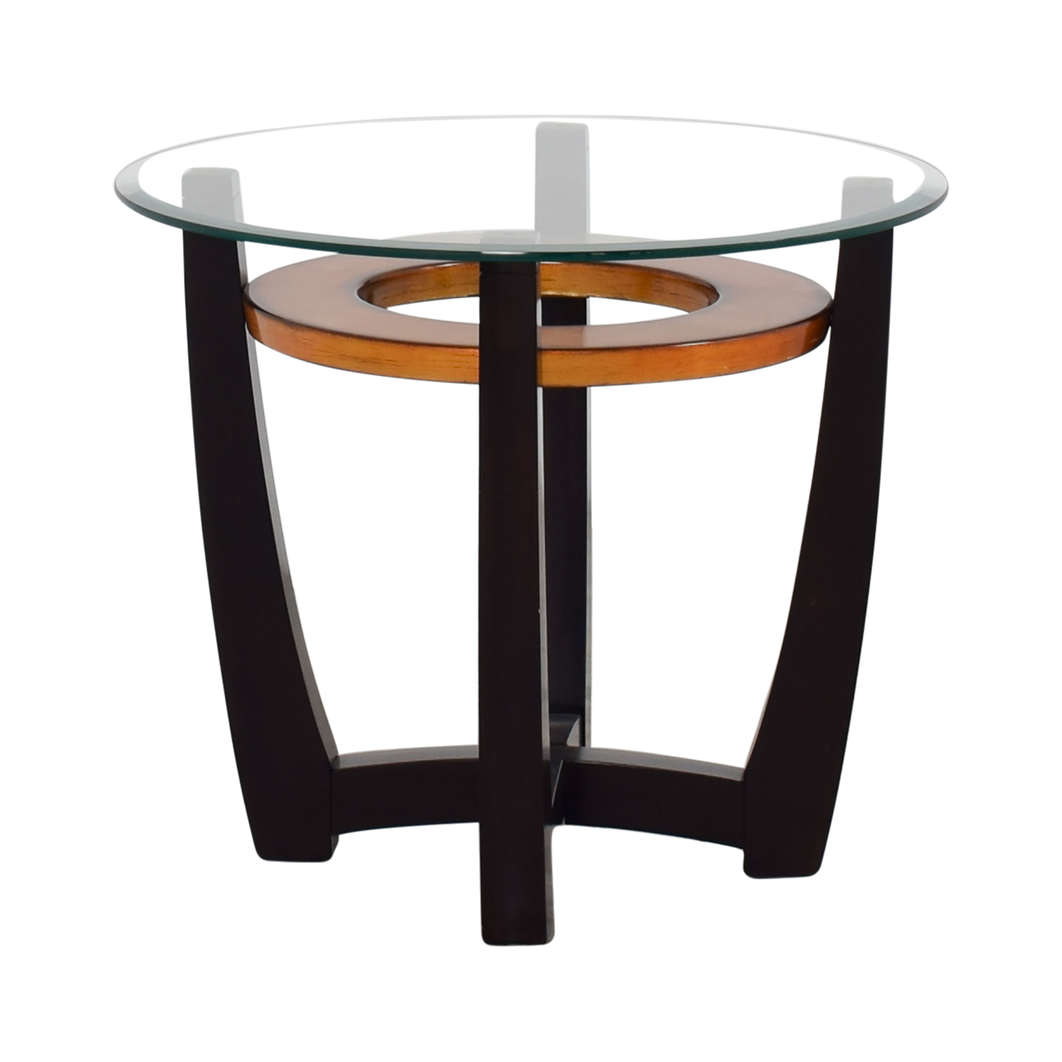 Glass End Table Top 90 Off Raymour And Flanigan Raymour And Flanigan Round
