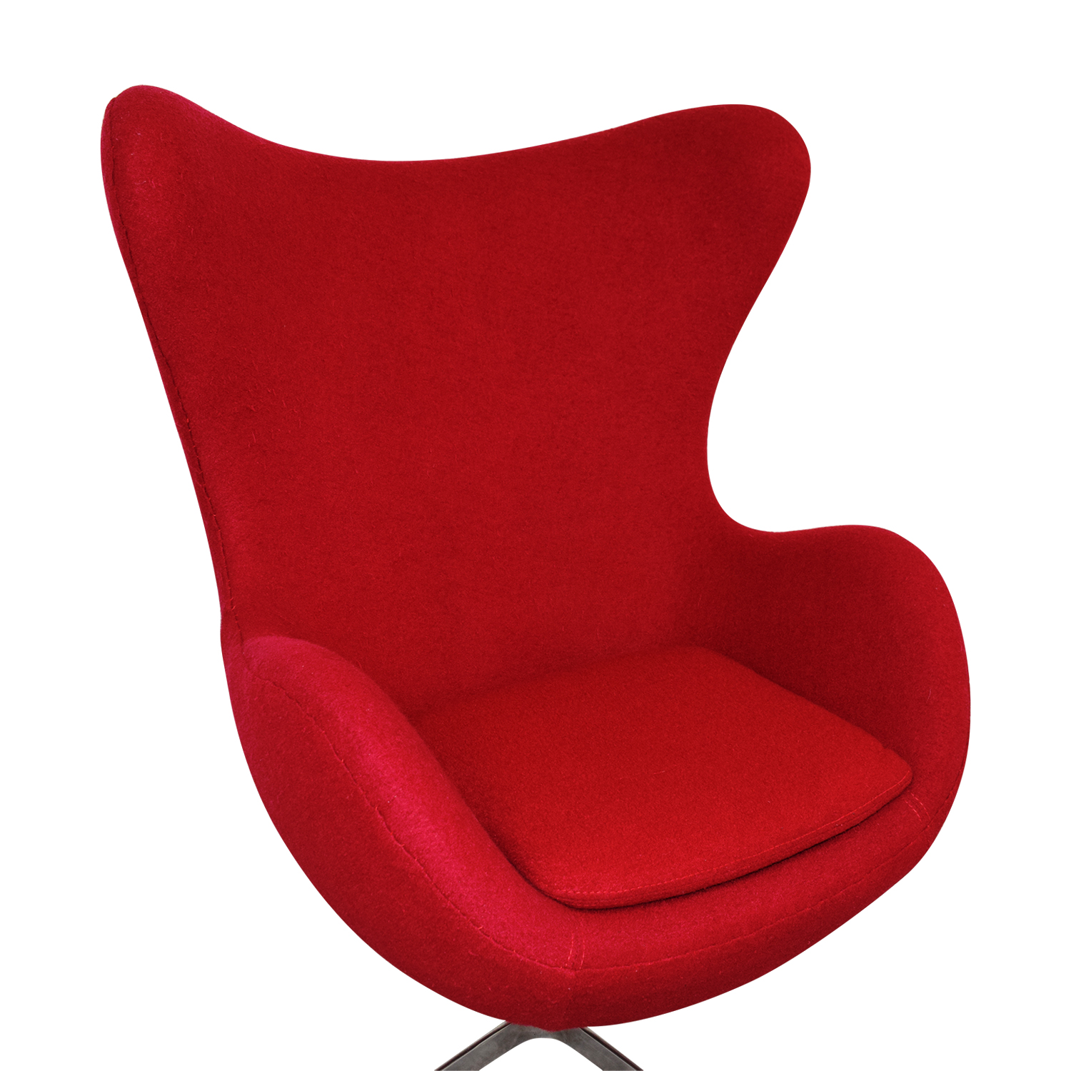 Buy Egg Chair 72 Off Red And Chrome Egg Chair Chairs