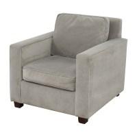 78% OFF - West Elm West Elm Grey Armchair / Chairs