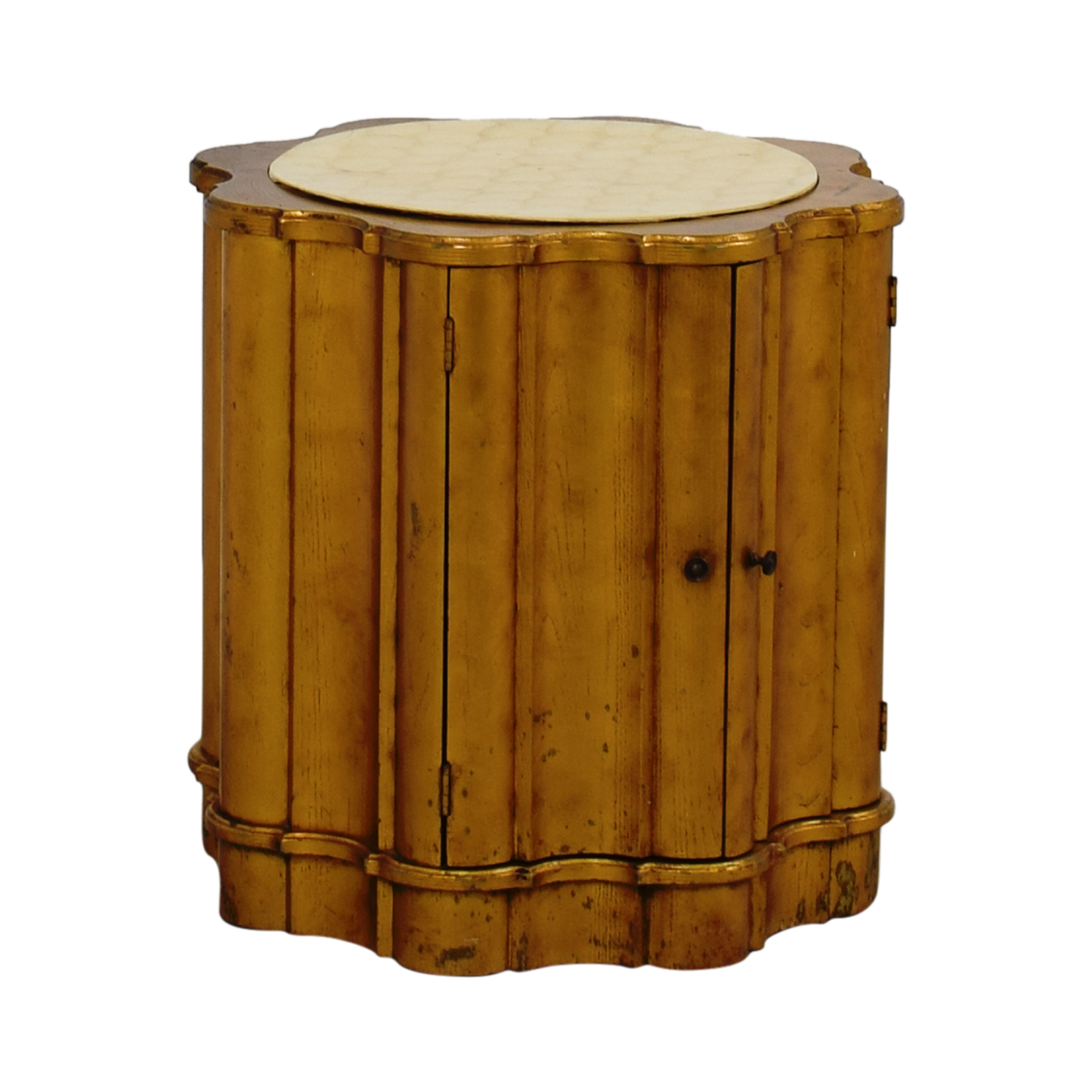 Buy Side Table 66 Off Vintage Round Side Table Tables