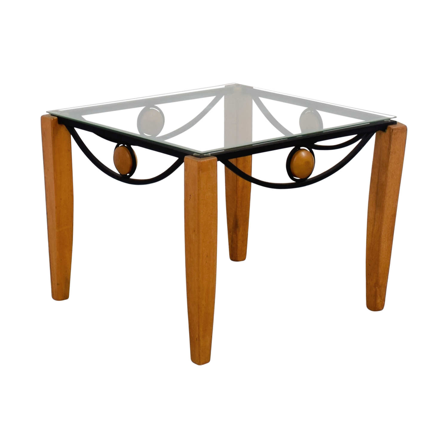 Wood And Metal Side Tables 90 Off Metal And Wood End Table Tables