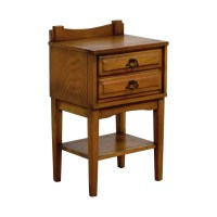 65% OFF - Mid Century Vintage Solid Oak Three Drawer Night ...