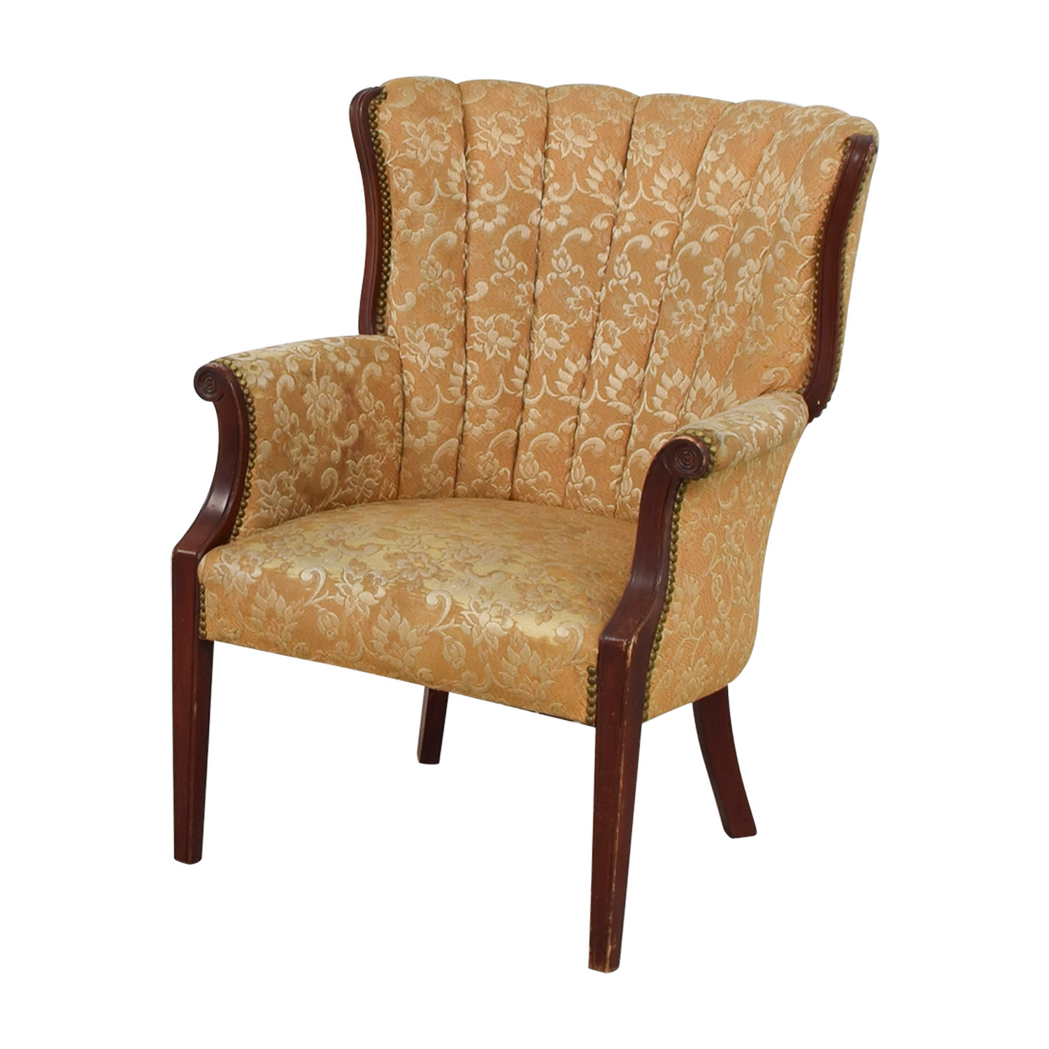 Accent Chairs Prices 87 Off Antique Indigo Yellow Wingback Accent Chair Chairs
