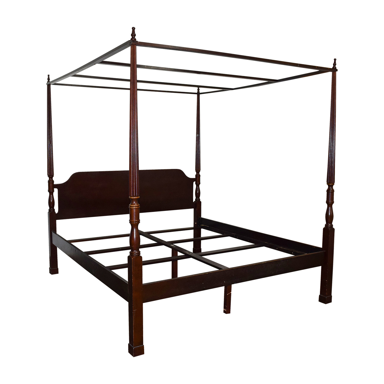 Canopy Bed Frame 84 Off Bombay Bombay Canopy King Cherry Wood Bed Frame