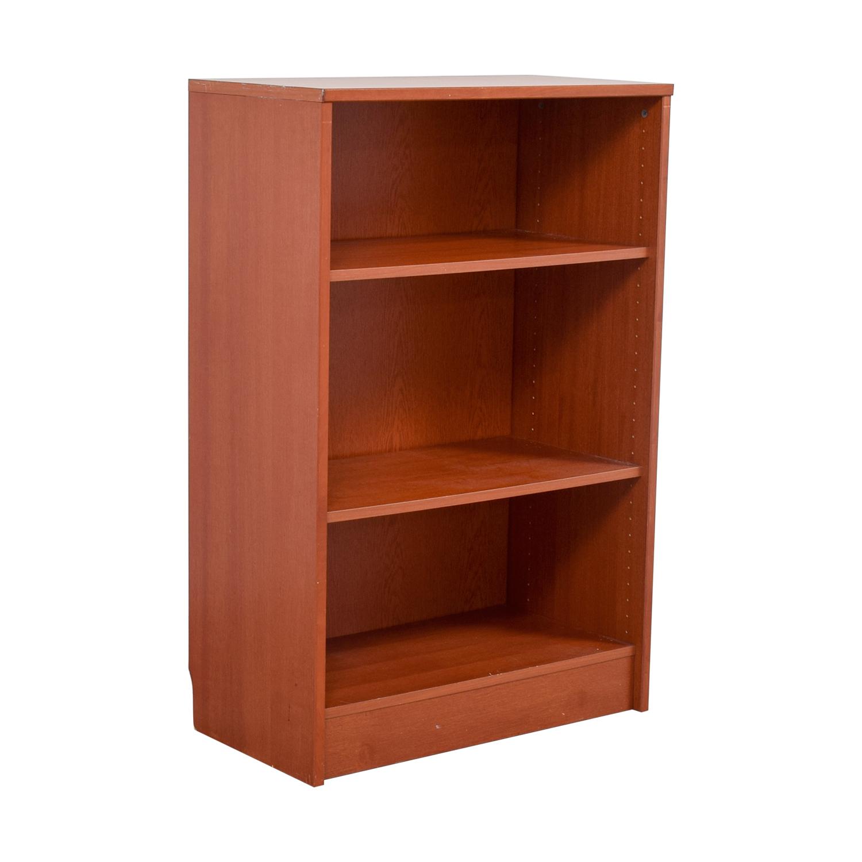 74 Off Three Shelf Wood Bookcase Storage