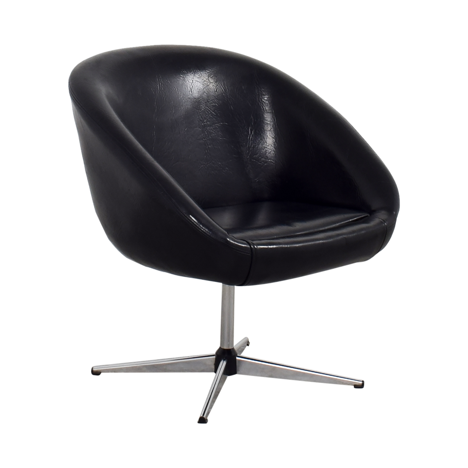 Designer Chairs Used 75 Off By Design By Design Modern Black Revolving Chair