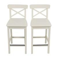 63% OFF - IKEA IKEA White Bar Stools / Chairs