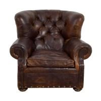 90% OFF - Natuzzi Natuzzi Black Leather Swivel Chair with ...