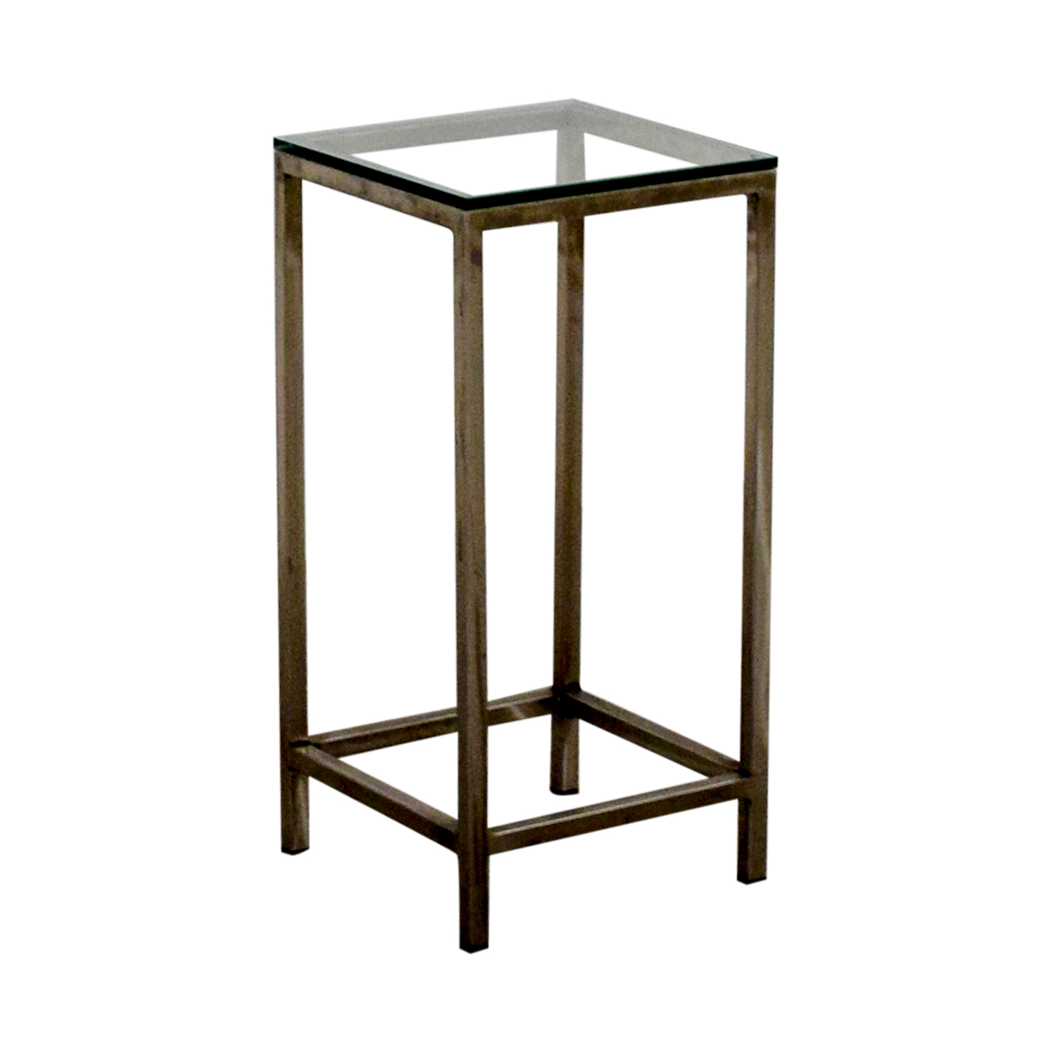 Square Glass End Tables 48 Off Crate And Barrel Crate And Barrel Era Square Glass