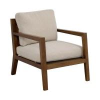 81% OFF - Zientte Zientte Niebla Beige Accent Chair / Chairs