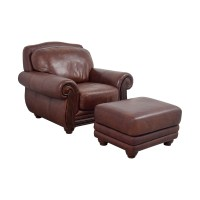 54% OFF - Rooms To Go Rooms To Go Brown Leather Chair and ...