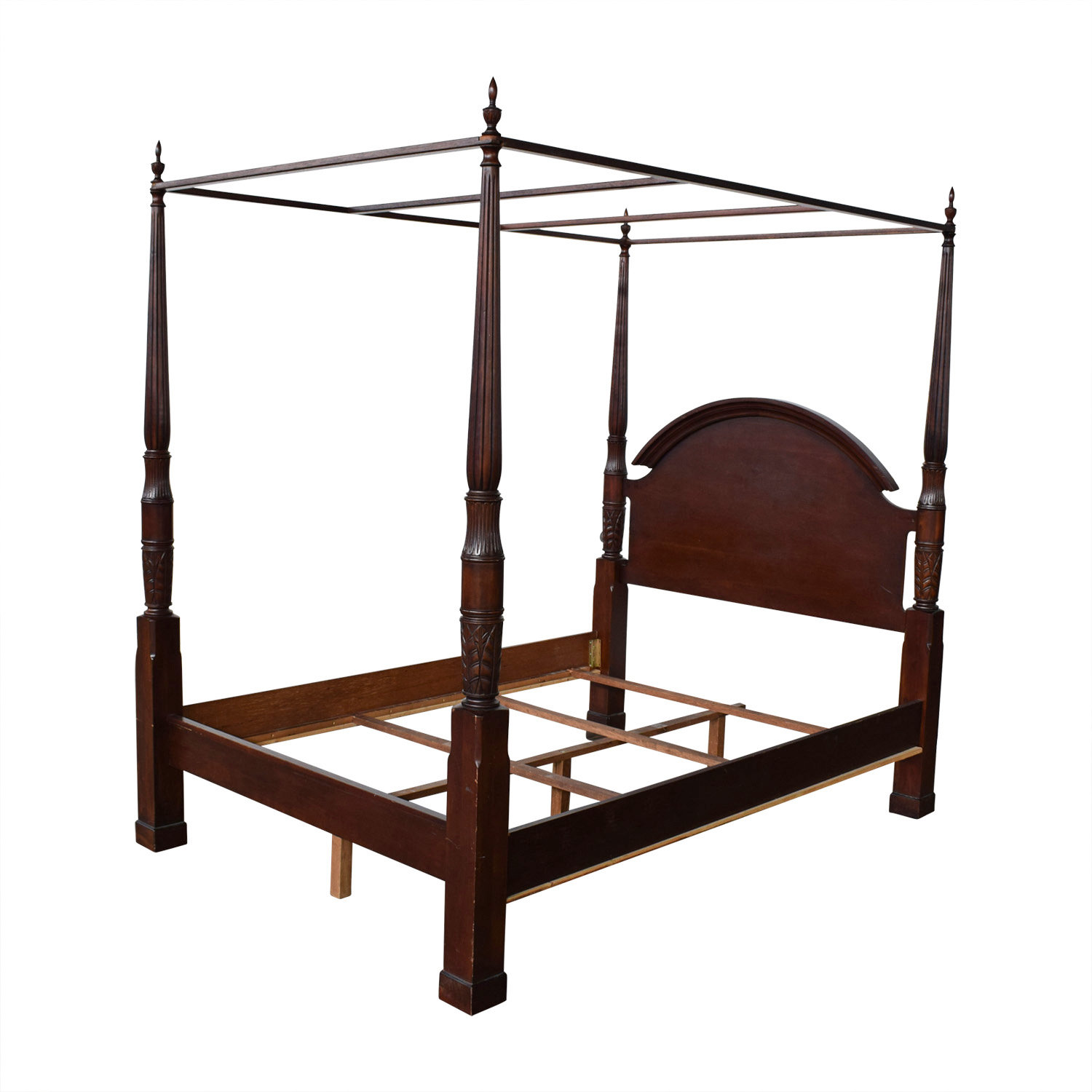 Canopy Bed Frame 83 Off Wood Four Poster Canopy Bed Frame Beds
