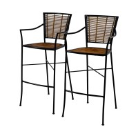 90% OFF - Bamboo and Metal Bar Stools / Chairs