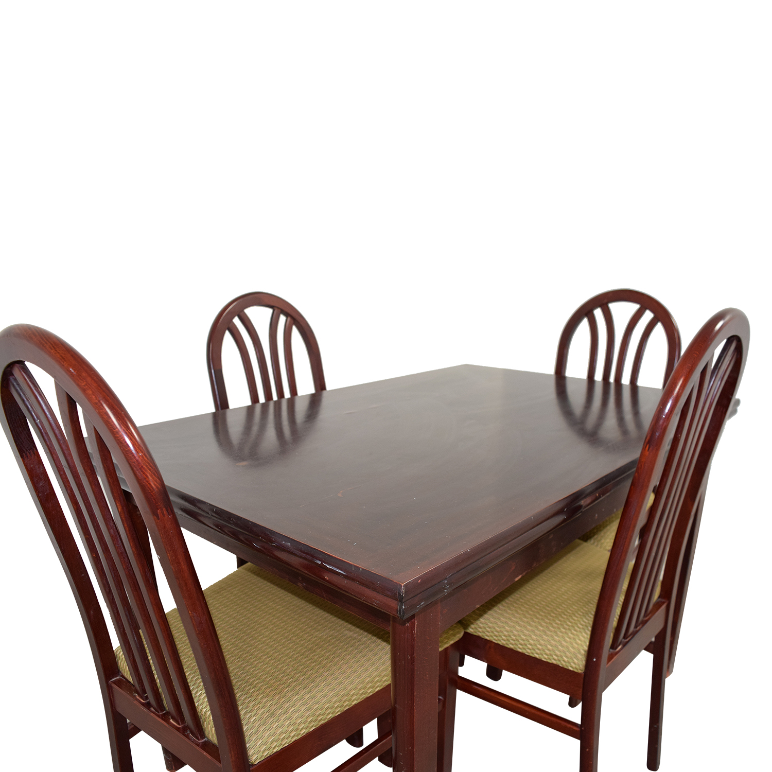 Second Hand Wood Sala Set 60 Off Wood Dining Set With Pull Out Extensions Tables