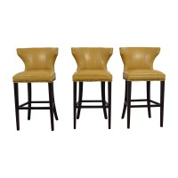 Yellow Stools Furniture Yellow Metal Bar Stools. Image ...