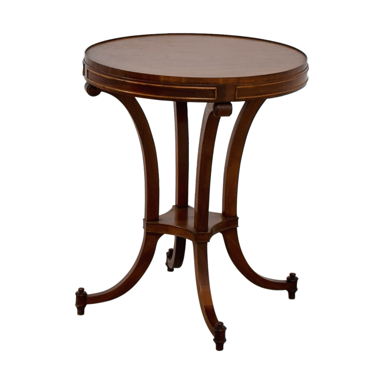 Buy Side Table 68 Off Round Wood Side Table Tables