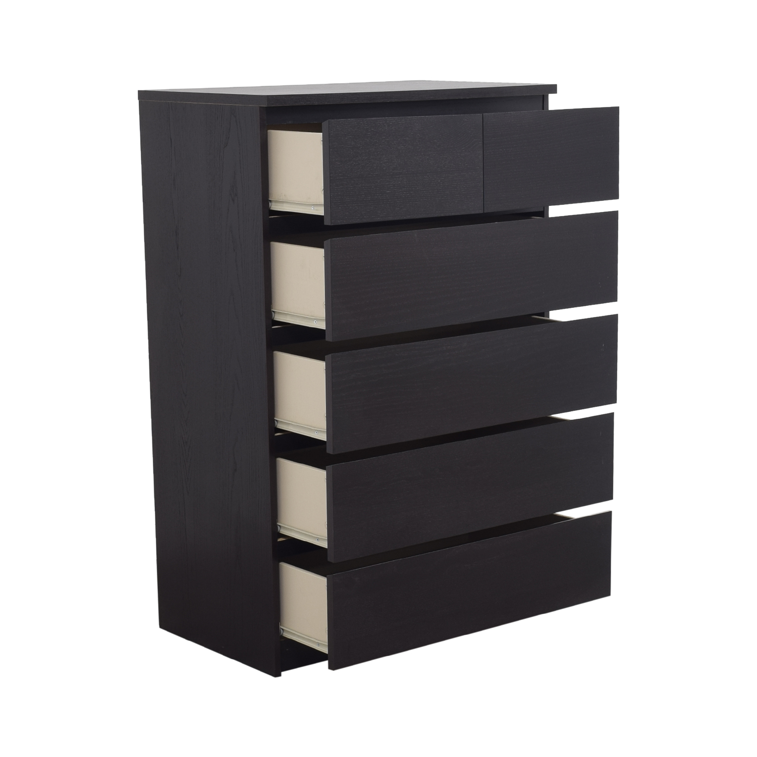 Armoire Malm Ikea 50 Off Ikea Ikea Malm Black Six Drawer Dresser Storage