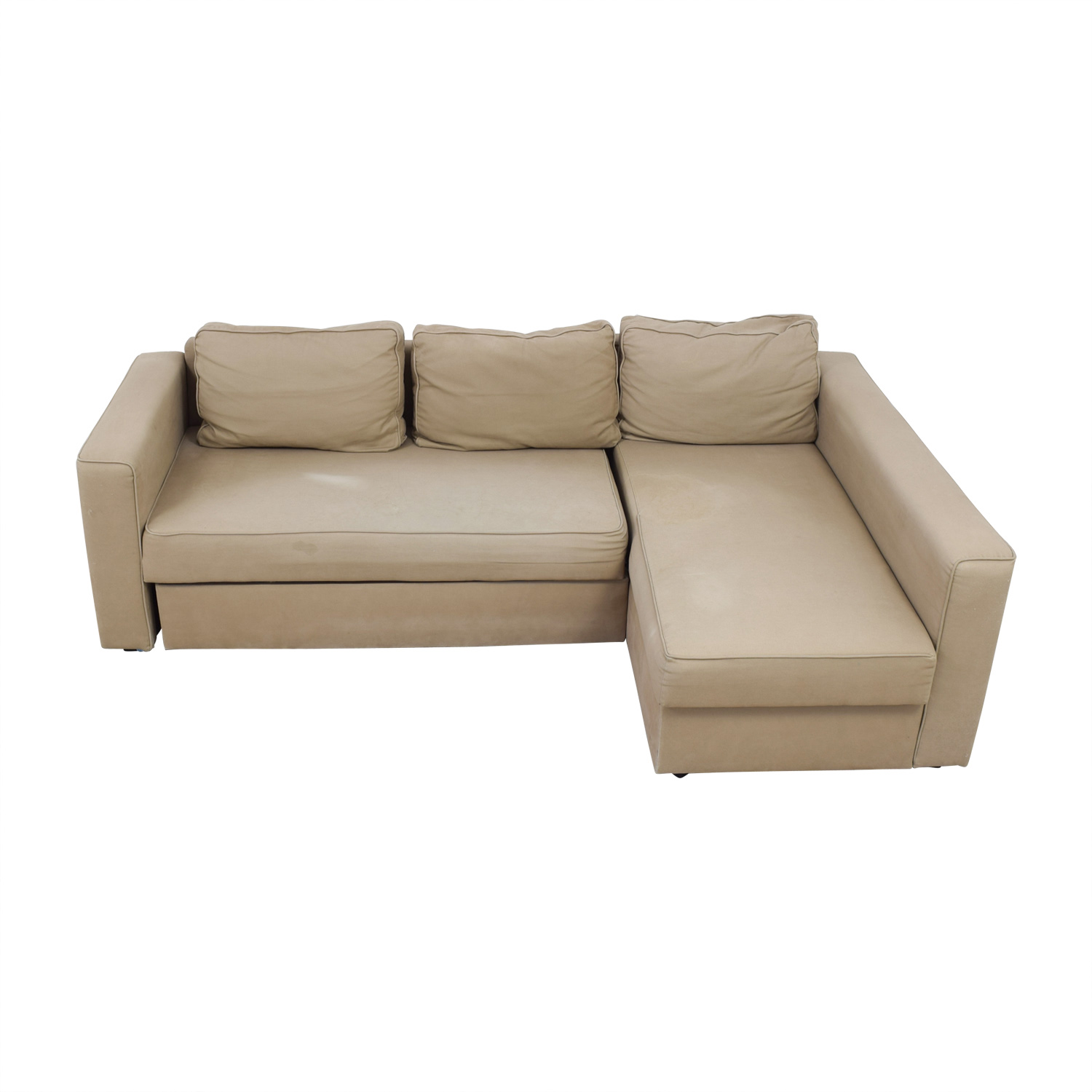 Ikea L Shaped Sofa Bed Dimensions 62 Off Ikea Ikea Manstad Sectional Sofa Bed With