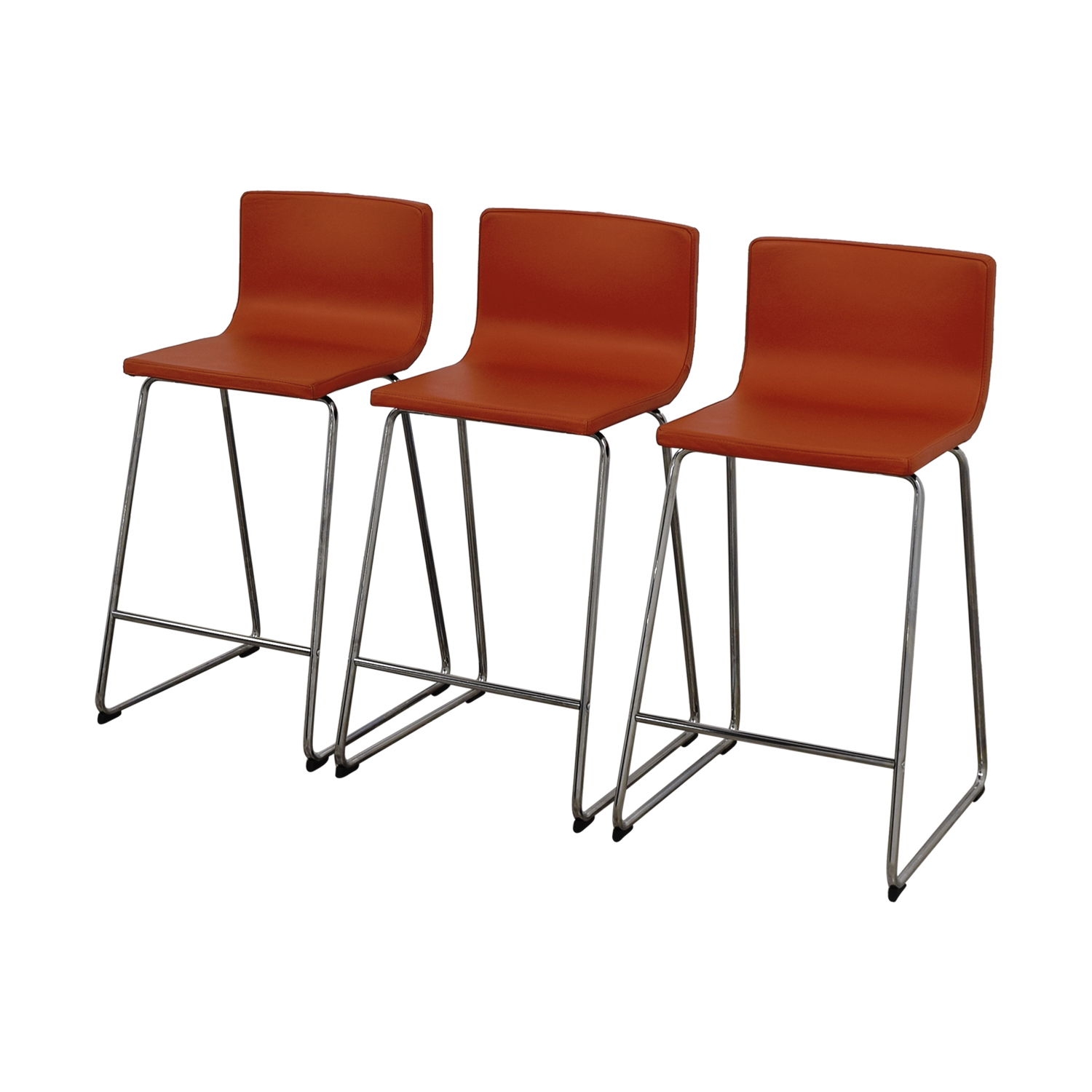 36 Inch Bar Stools Ikea 86 Off Ikea Ikea Bernhard Orange Bar Stools Chairs