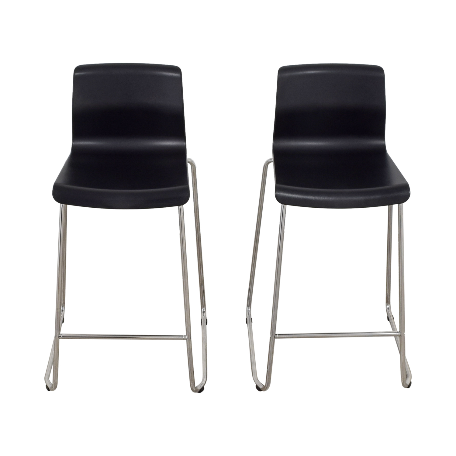 36 Inch Bar Stools Ikea 81 Off Ikea Ikea Black And Metal Bar Stools Chairs