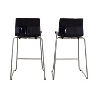 81% OFF - IKEA IKEA Black and Metal Bar Stools / Chairs