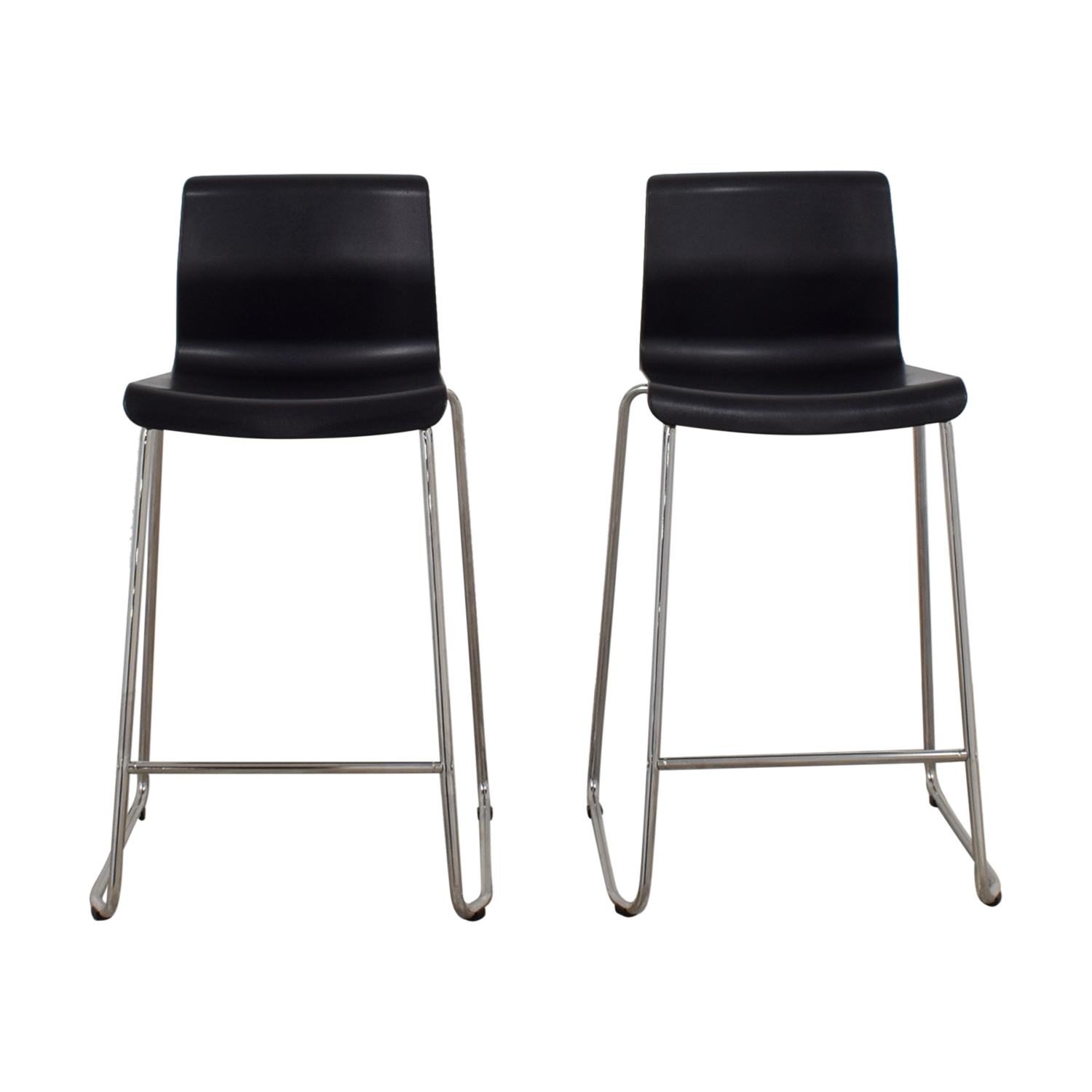 Ikea Black Chair 81 Off Ikea Ikea Black And Metal Bar Stools Chairs