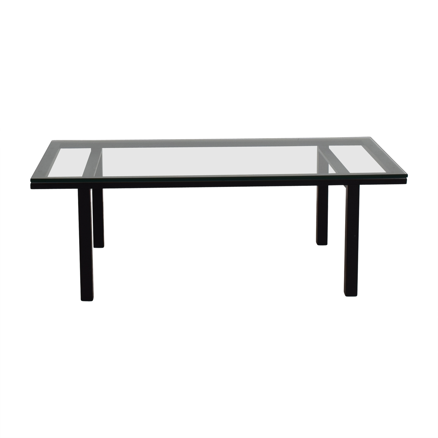 Black Coffee Table For Sale 80 Off Rectangular Glass And Black Coffee Table Tables