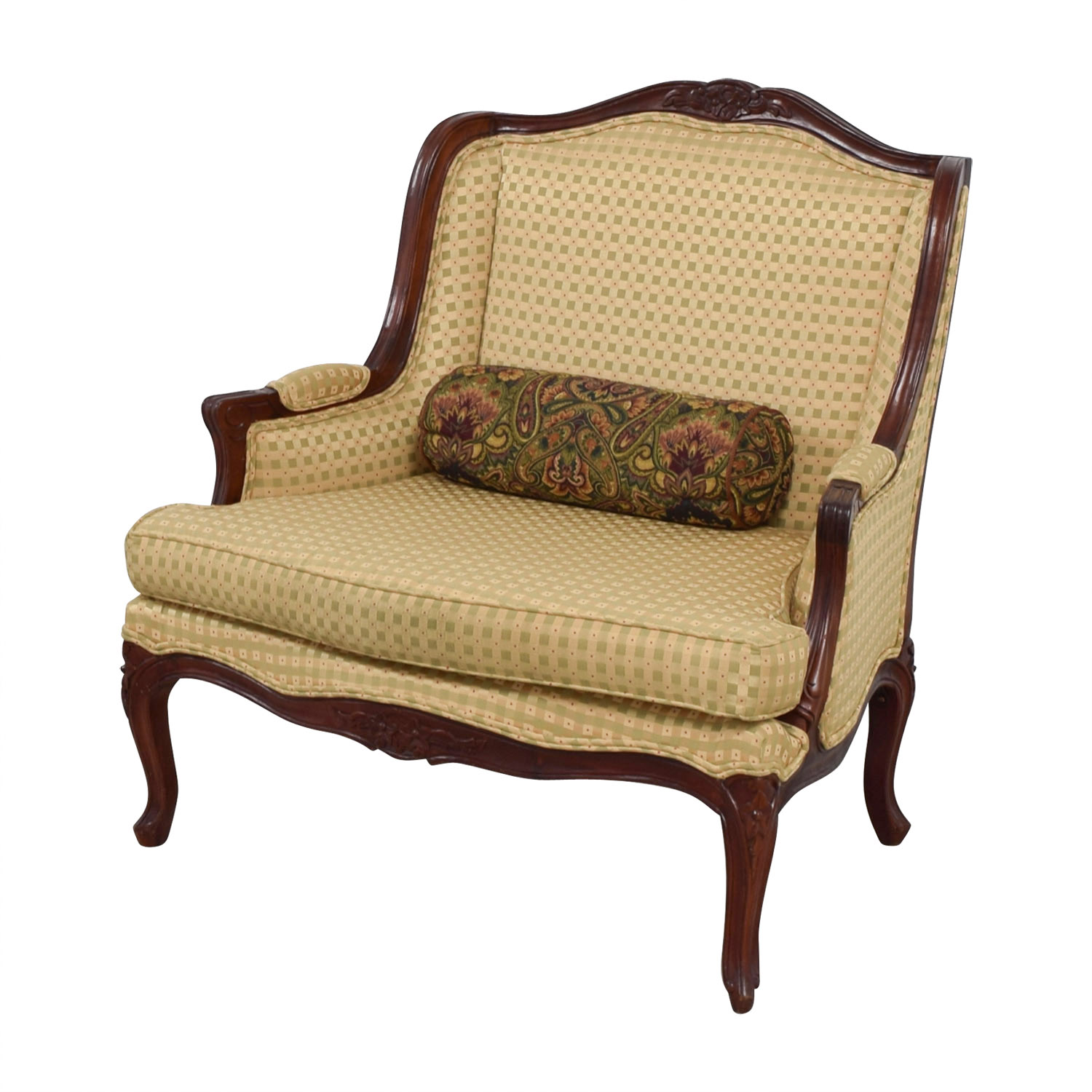Accent Chairs Prices 41 Off Gold And Red Wide Accent Chair Chairs