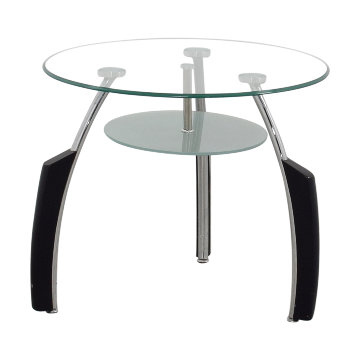 Round Glass Top End Tables 62 Off Round Glass End Table Tables